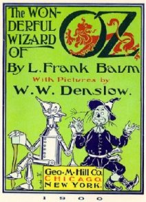 Original interior title plate of The Wonderful Wizard of Oz, 1900