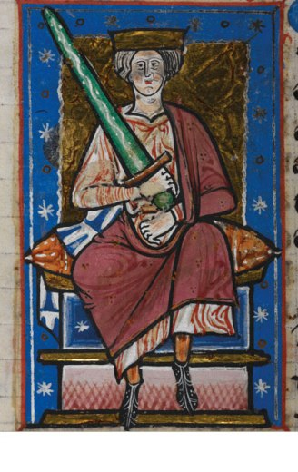 Ethelred the Unready. MS Cotton Claude B VI c.1220. (© The British Library Board)